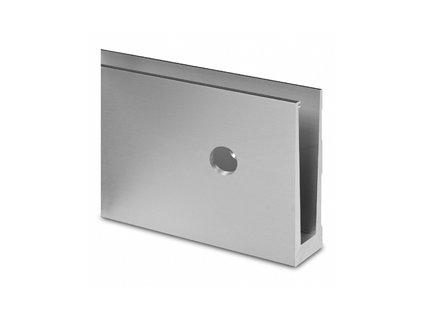 Hliníkový kotvící profil 120/47mm pro sklo - boční kotvení