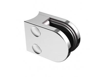 Nerezový držák skla 50 x 40 mm, pro sloupek pr. 33.7 mm