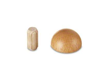 Záslepka pro dřevěné madlo Ø42,4, dub nelakovaný