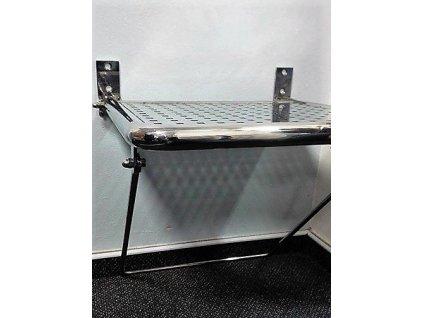 Nerezové sedátko závěsné sklopné 450 x 470 mm