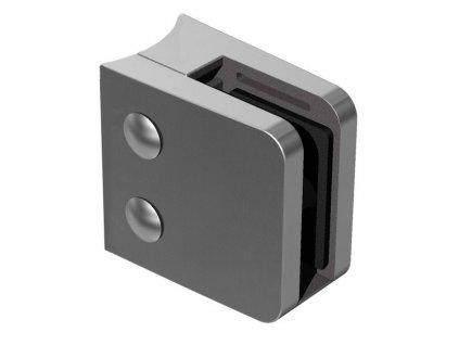 Nerez držák skla 55 x 65 mm, model 24 - pro sloupek Ø42,4 mm