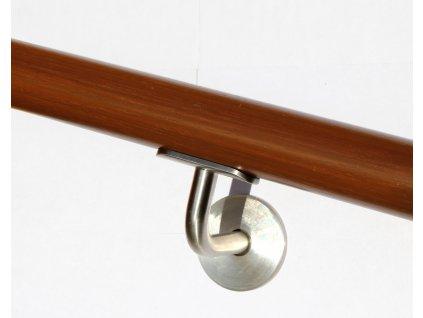 Drevěné madlo na zeď DUB (Ø42mm), odstín: 3081 ořech