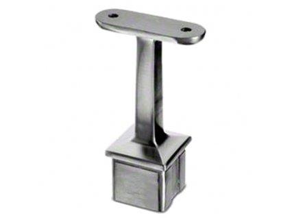 Nerezový držák madla (plochý základ) pro sloupek 40 x 40 x 2,0 mm, AISI 304