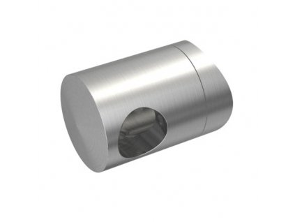 Nerezový držák pro tyč pr. 12 mm, koncový pravý, AISI 304