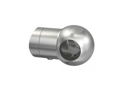 Nerezový držák pro tyč pr. 12 mm, koncový levý, AISI 304
