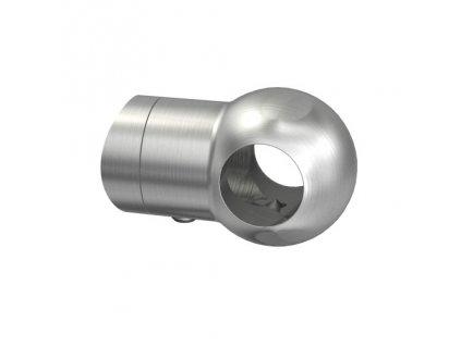 Nerezový držák pro tyč pr. 12 mm, průběžný, AISI 304