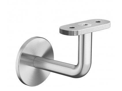 Nerezový držák madla s plochým základem pro montáž na zeď, AISI 304