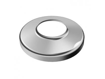 Krycí rozeta Ø80 mm s vnitřním otvorem Ø25 mm, leštěná