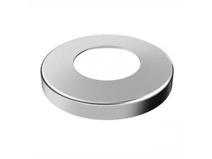 Krycí rozeta Ø85 mm s vnitřním otvorem Ø33,7 mm, leštěná