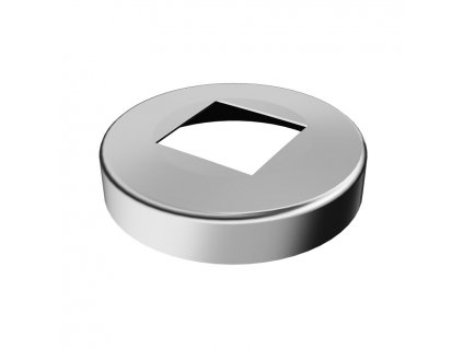 Krycí rozeta  Ø95 mm pro profil 40x40 mm, leštěná
