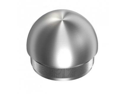Kulatá záslepka pro trubku Ø48,3 x 2,0 mm - broušená (satén)
