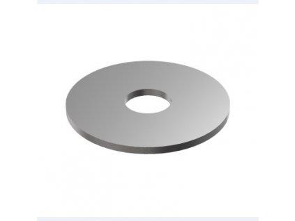 Plochá záslepka 4 mm s otvorem Ø12 mm pro trubku Ø42,4, surová