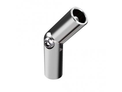 Kloubové spoje (od -90° do + 90°) pro Ø12 mm, leštěná