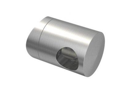 Úchyt s bočním průchodem pro tyč Ø12,0 mm / pro sloupek Ø33,7 mm, nerezová ocel AISI 304, brus