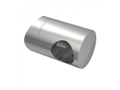 Úchyt s bočním průchodem pro tyč Ø16,0 mm / pro sloupek Ø48,3 mm, nerezová ocel AISI 304, brus