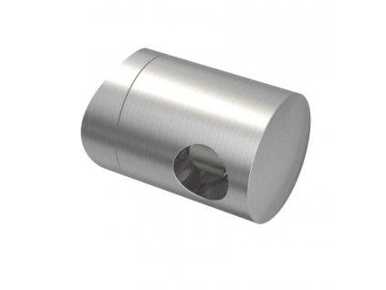 Úchyt s bočním průchodem pro tyč Ø10,0 mm / pro sloupek Ø48,3 mm, nerezová ocel AISI 304, brus