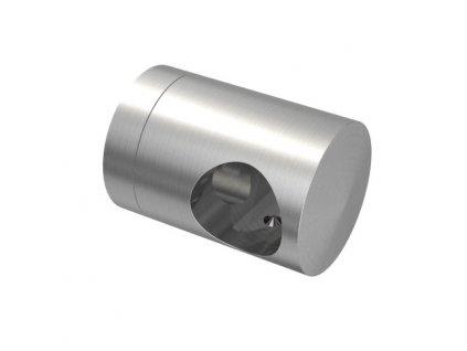 Úchyt s bočním průchodem pro tyč Ø14,0 mm / pro profil (plochý povrch), nerezová ocel AISI 304, brus