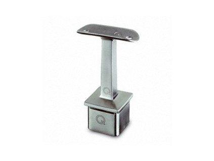 Držák zábradlí ke vložení na profil 40 x 40 x 2,0 mm, trubka zábradlí Ø48,3 mm, nerezová ocel AISI 304, brus