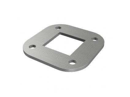 Čtvercová deska 88 x 88 x 4 mm pro sloupek 40 x 40 mm, nerezová ocel AISI 304, surová