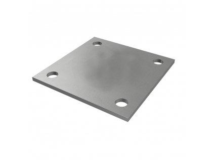 Montážní deska 90 x 90 x 4 mm, nerezová ocel AISI 304, surová