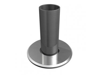 Montážní patka pro sloupek Ø42,4 x 2,0 mm, kotvení v ose sloupku, brus