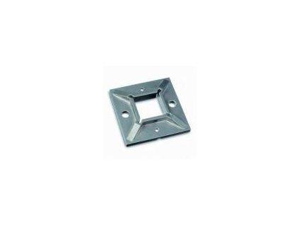 Montážní patka 100 x 100 mm pro profil 40 x 40 x 2 mm, surový, AISI 304