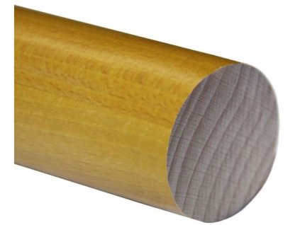 Madlo dřevěné - dub (lak) Ø48mm, 2500mm
