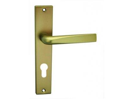 Kování Cobra FLAT (hliník) Provedení: (Povrch (elox) Nerezový (F9), Provedení BB - klika/klika s otvorem pro pokojový klíč, Rozteč 90 mm)