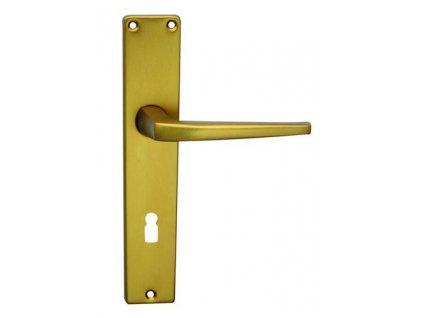Kování Cobra UNIVERSAL (hliník) Provedení: (Povrch (elox) Bronzový (F4), Provedení BB - klika/klika s otvorem pro pokojový klíč, Rozteč 90 mm)