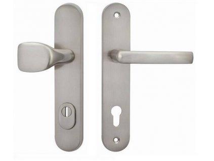 Ochranné kování Cobra C101+ Provedení: M PZ (Povrch Bronz česaný, Provedení M PZ RE - klika pravá/madlo pro FAB, Rozteč 72 mm)