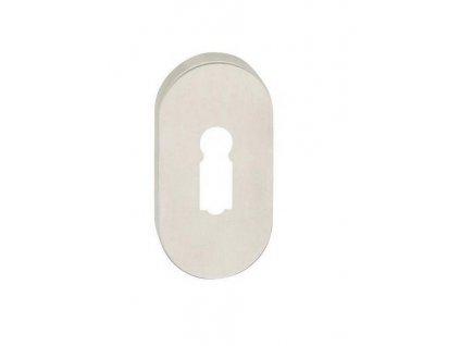 Cobra SAMOSTATNÁ ROZETA oválná (BB, PZ, WC) Provedení: S (Provedení S PZ otvorem (vložkový klíč))