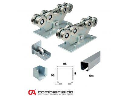Sety pro samonosné brány do 8,5 m průjezdu Combi Arialdo C SET-M/Zn 9 - pro brány do 8,5 m  10% sleva pro registrované zákazníky