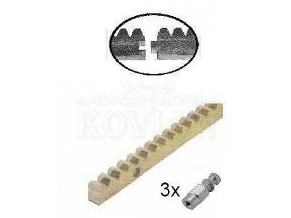 Hřebeny  CREM-12K Hřeben ocel 30x12 mm, do 2200 kg, M4  10% sleva pro registrované zákazníky
