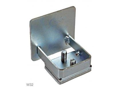 Dorazy a náběhová kolečka Combi Arialdo W32-80 Záslepka pro profil 80x80 mm, pozink  10% sleva pro registrované zákazníky