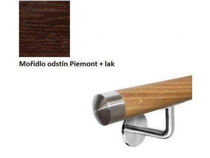Madlo na zeď Ø42,0 mm DUB komplet - mořidlo Piemont + lak
