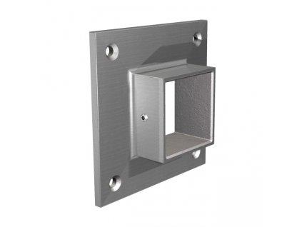 Nástěnná příruba pro profil 40 x 40 mm, nerez ocel AISI 304
