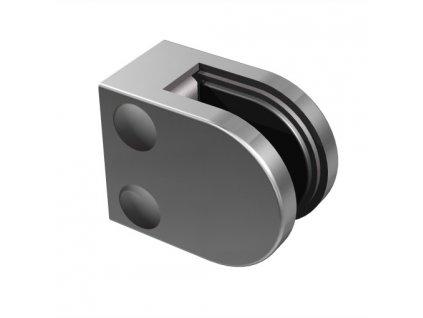 Nerezový držák skla 50 x 40 mm, pro profil