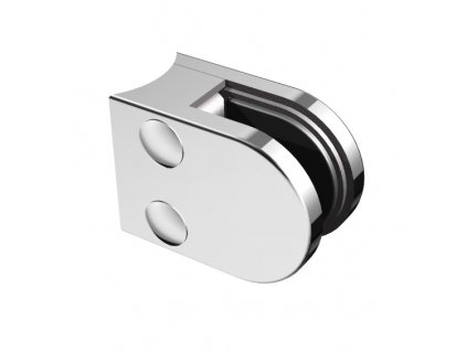 Nerezový držák skla 50 x 40 mm, pro sloupek pr. 42.4 mm