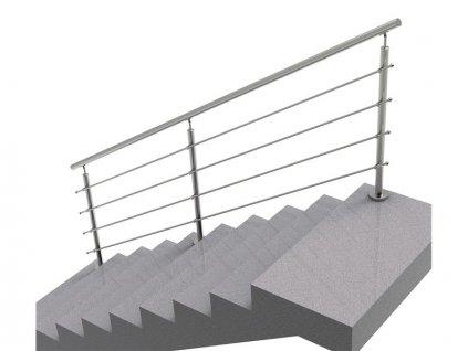 Nerezové zábradlí na schody - set (délka:3000 x výška:1000mm)