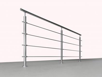 Nerezové zábradlí na schody - set (délka:3000 x výška:900mm) LESK