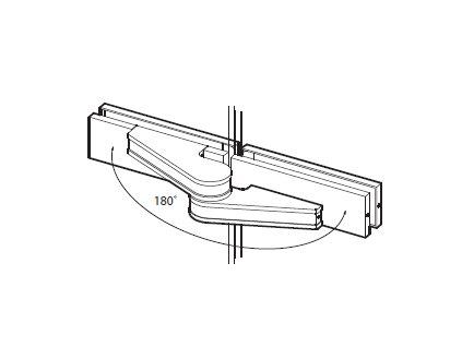 Pant (sklo/sklo) s odsazenou osou otáčení pro skleněné dveře typ 49042