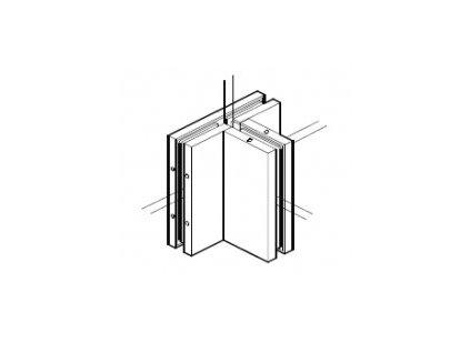 Držák šesti skel pro skleněné dveře typ 56590