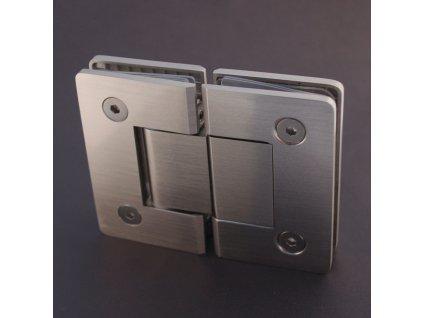 Kování pro sprchové kouty 180° (sklo/sklo) model 16680