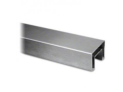 Nerezové madlo 40x40/24x24mm pro samonosné zábradlí, L=2500mm