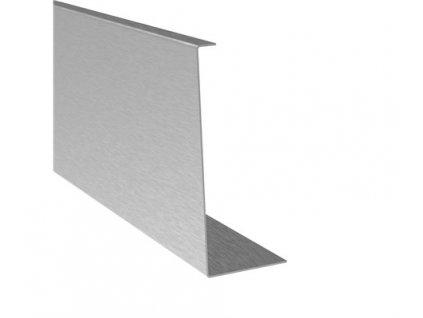 Krycí plech boční určeno pro profil (120/45 mm), 2500mm,  materiál: nerez. ocel 304 - brus