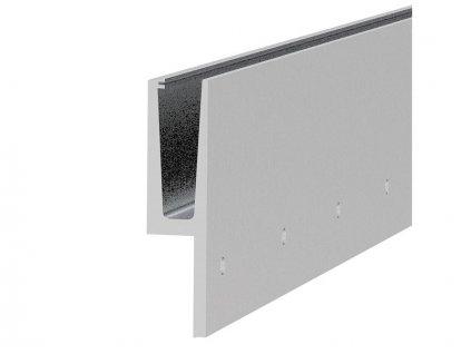 Hliníkový kotvící profil 200/48/2500mm pro sklo - boční kotvení