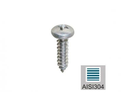 Nerezový vrut do dřeva 5*35 mm, AISI 304
