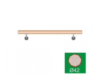 Madlo 42,4 dřevěné DUB komplet