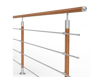 balustrada model dallas mgd4i nierdzewna drewno wysokosc 101 cm 4 x o12 mm