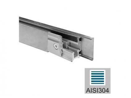 Zasklení pevné - set 3m profilu AISI 304, K320